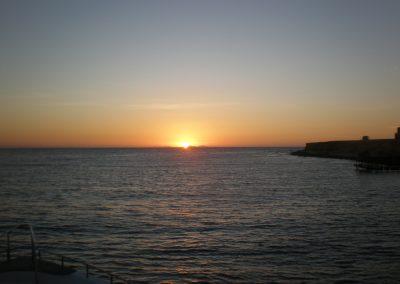 Sonnenuntergang vom Tauchboot