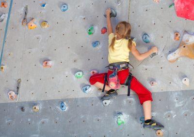 Klettern in der Halle - Kreativität und Technik