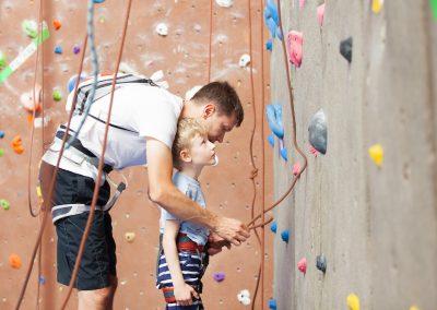 Klettern in der Halle - Sicherheit geht vor